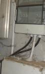 Staub und Spinneweben auf dem Hausanschlusskasten