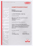 Zertifikat für Speichersysteme